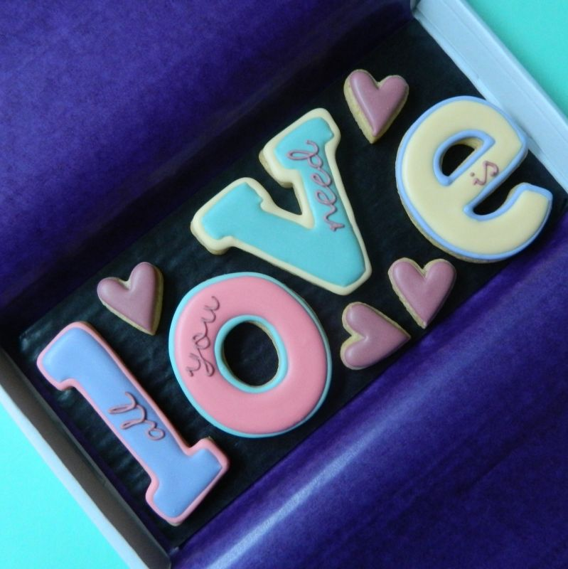 All you need is Love Letterbox Cookies