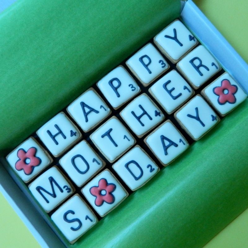 HAPPY MOTHERS DAY Scrabble Letterbox Cookies