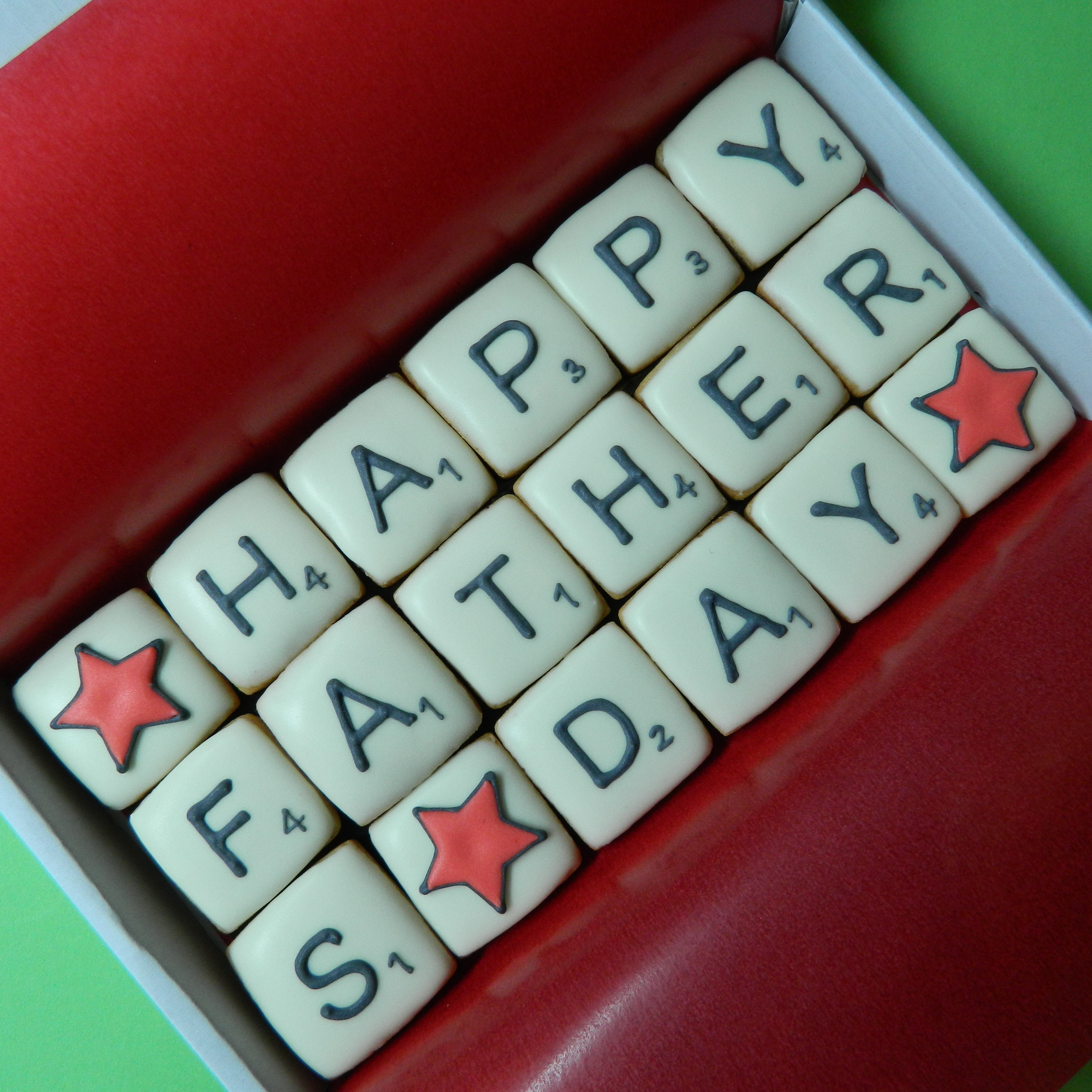 HAPPY FATHERS DAY Scrabble Letterbox Cookies