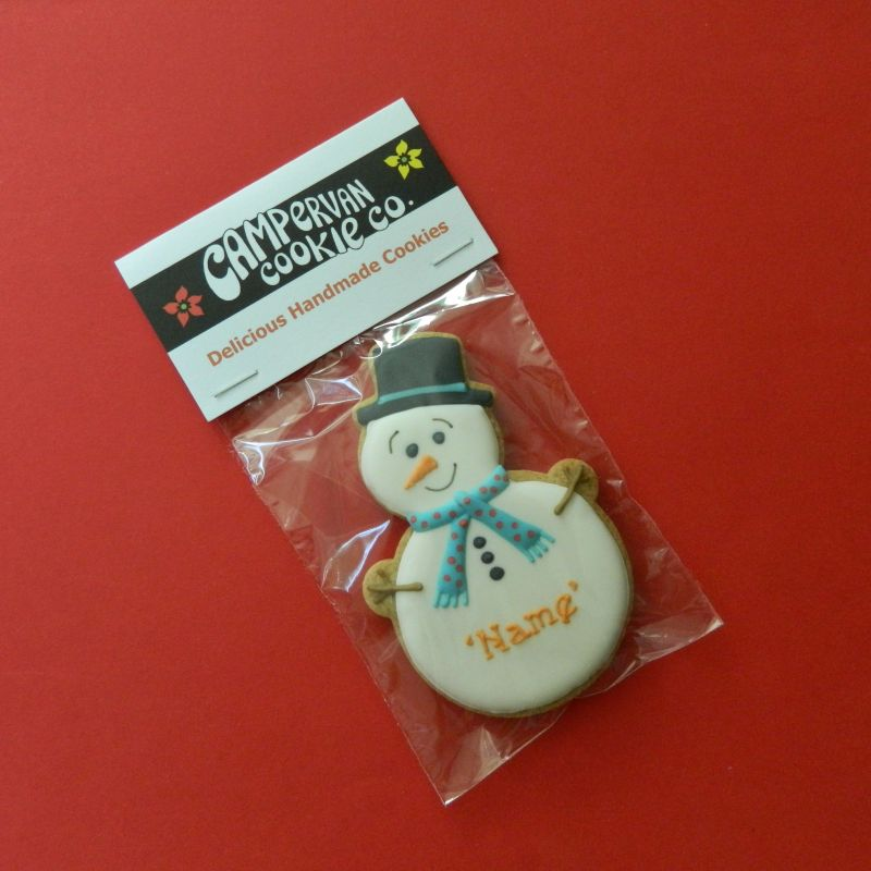 Personalised Snowman Cookie