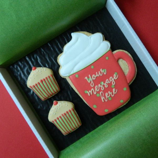 Mug and Cupcakes Cookie Card