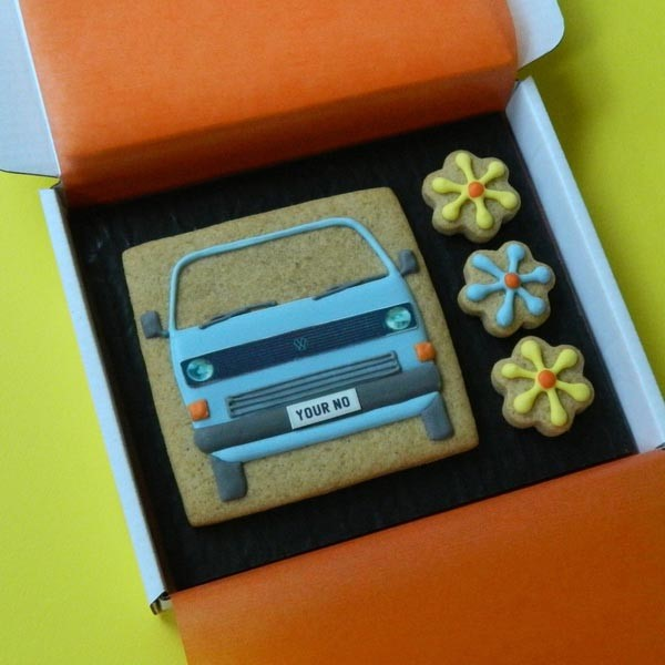Type 25 and Flowers Cookie Card