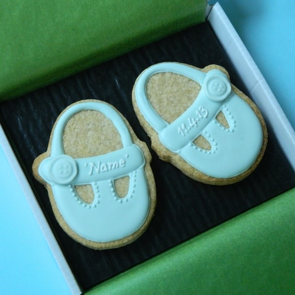 Baby Shoes Cookie Card
