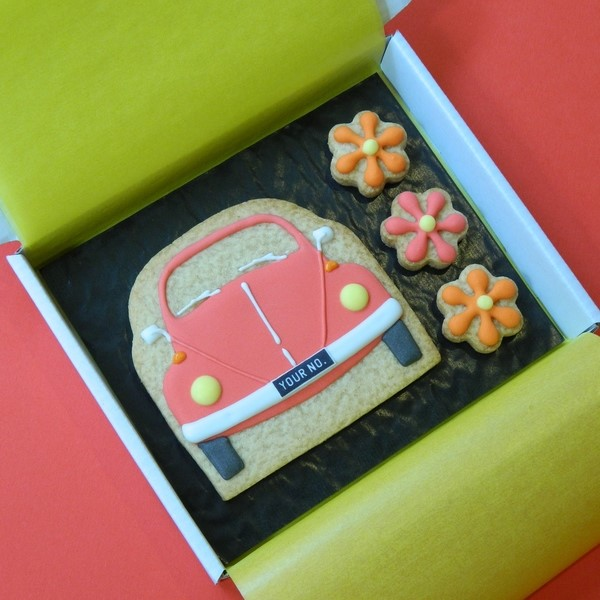 Classic Beetle and Flowers Cookie Card