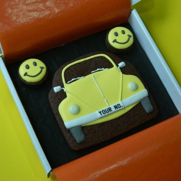 Beetle and Smileys Cookie Card