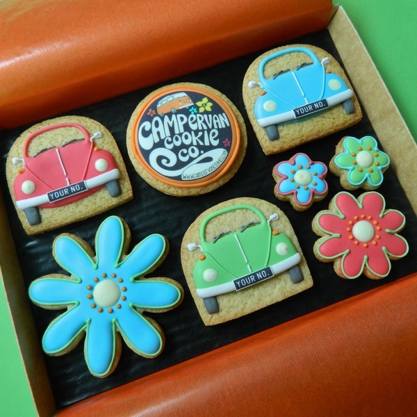 Campervan Cookie Co Beetles Medium Box