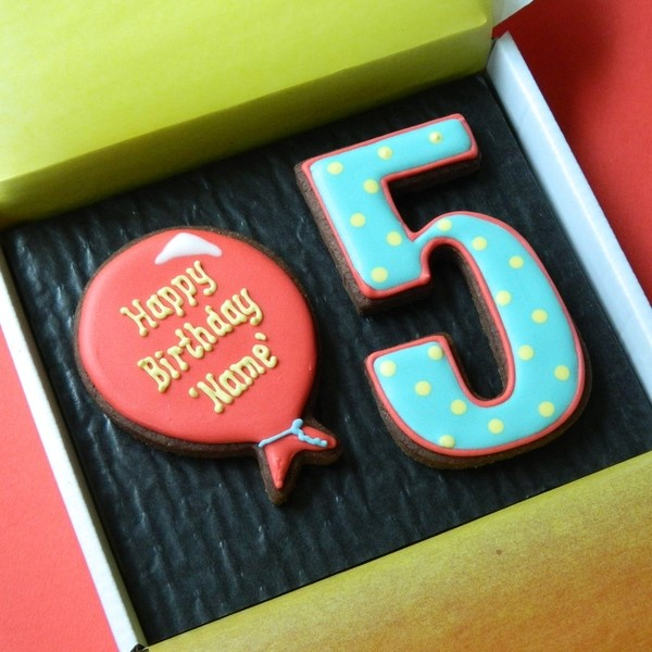 Birthday Balloon Cookie Card