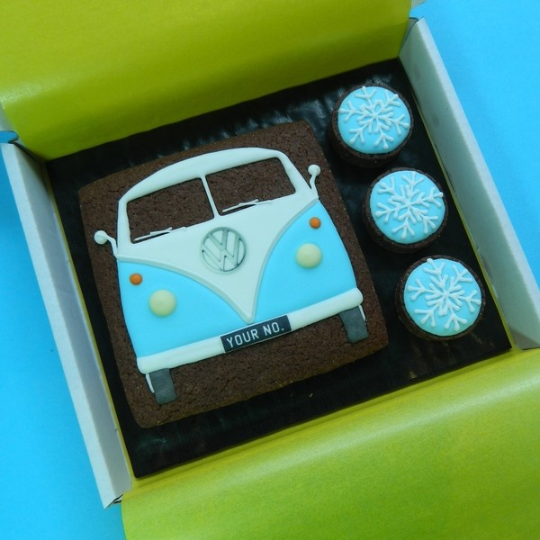 Splitty with Snowflakes Cookie Card