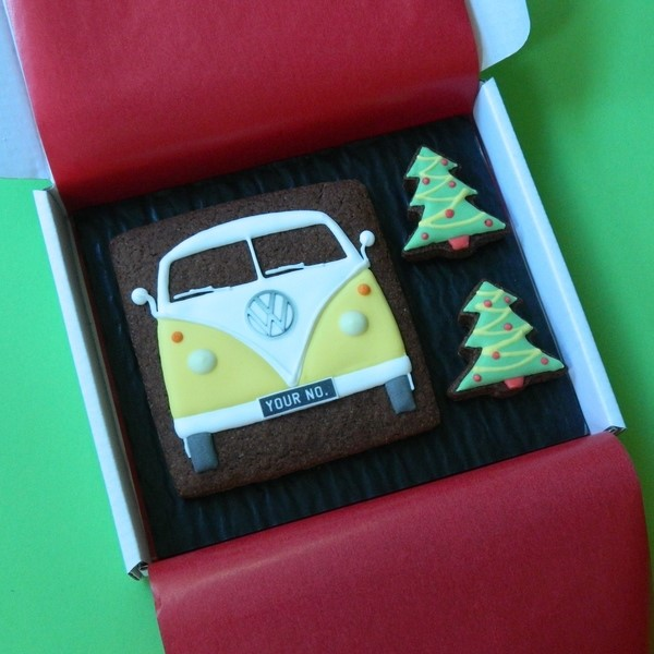 Splitty and Christmas Trees Cookie Card