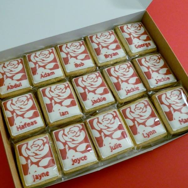 Labour Party Rose Cookies