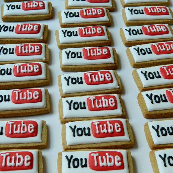 Hand-iced YouTube Cookies