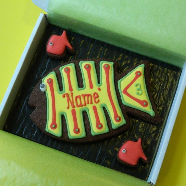 Funky Fish Cookie Card