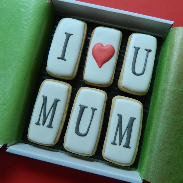 I ♥ U MUM Cookie Card