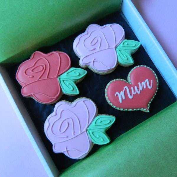 Roses Cookie Card for Mum