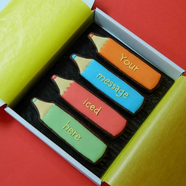 Coloured Crayons Cookie Card