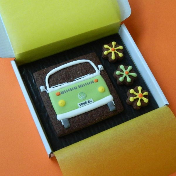 Type 2 Bay and Flowers Cookie Card