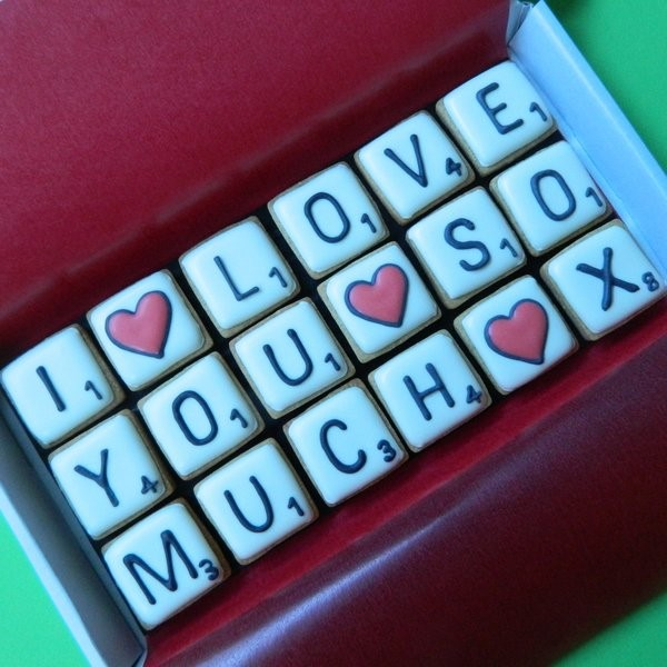 'I love you so much' Letterbox Cookies