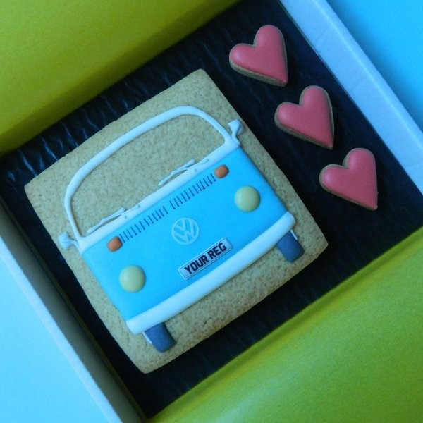 Type 2 Bay with Hearts Cookie Card