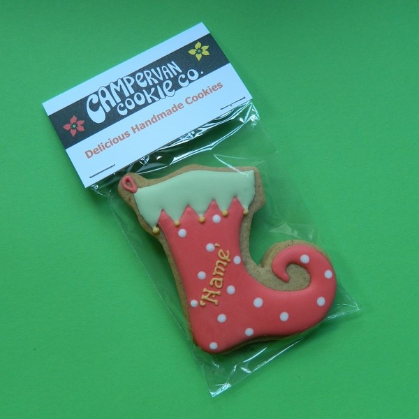 Personalised Christmas Stocking Cookie