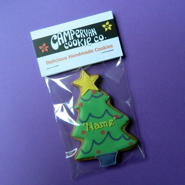 Personalised Christmas Tree Cookie